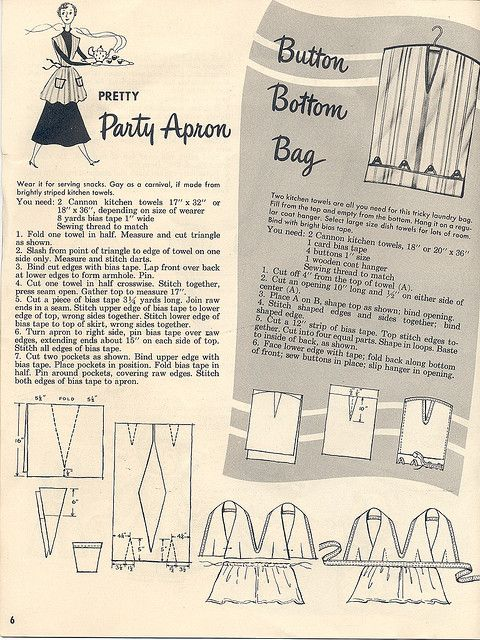Towel Apron and  laundry bag by Woof Nanny, via Flickr