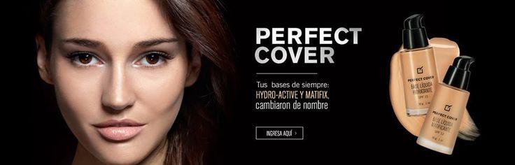 Bases de Maquillaje PERFECT COVER, para cutis seco BASE LIQUIDA HIDRATANTE y para cutis graso BASE LIQUIDA MATIFICANTE