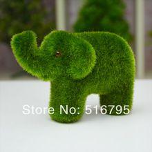 frete grátis pequeno projeto animal bonito decorações, musgo artificial grama elefantes pedras simulação(China (Mainland))