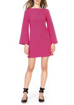 Donna Morgan Women's Bell-Sleeve Sheath Dress - Raspberry - 8