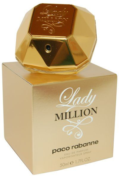 Paco Rabanne Lady Million Eau de Parfum is a luxurious, woody floral fragrance for women. Conveys a hint of elegance, femininity and sensuality that delivers a fresh, sweet and lingering scent. Features notes of Citron, Raspberry, Neroli, Orange Flower and Jasmine. Blended with Gardenia, Patchouli and Honey.