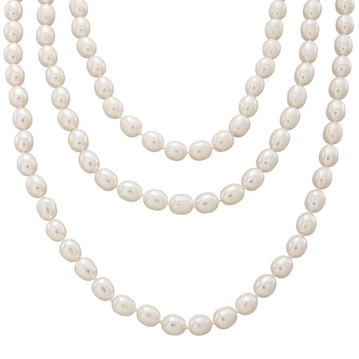 Sterling Silver Freshwater Cultured Pearl Necklace Set, Adult Unisex, White