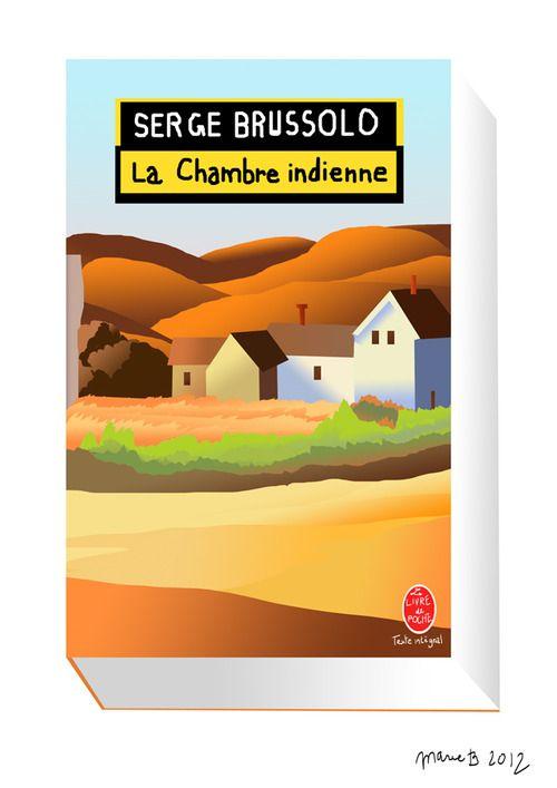 Illustration of a cover from one of the books I read. Illustration d'une couverture d'un des livres que j'ai lu. Serge Brussolo - La chambre indienne