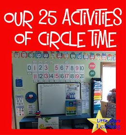 Little Stars Learning: Our 25 Activities of Circle Time I love these circle time ideas, I'm going to update our routine.