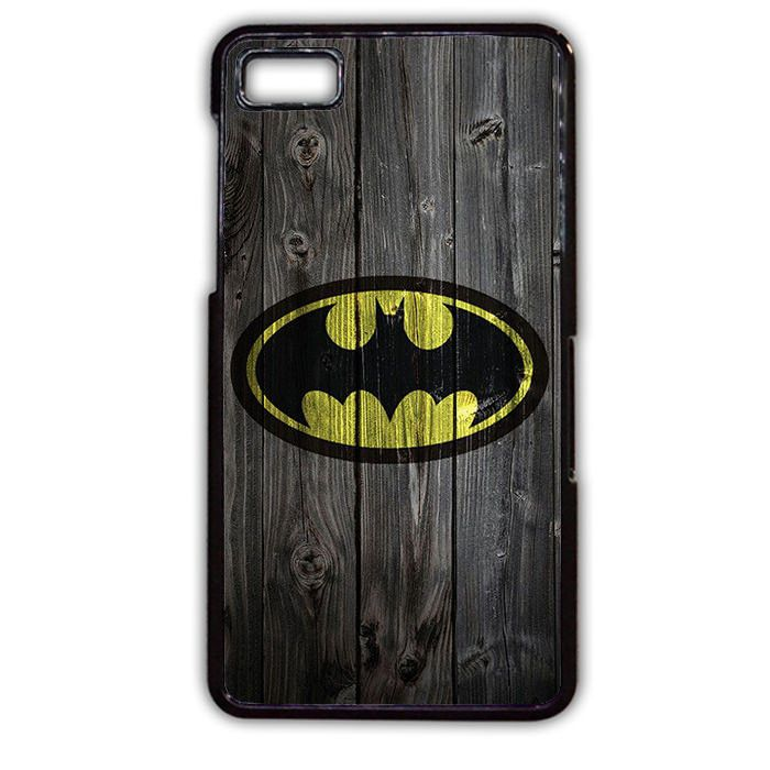 Batman Logo On Wood Phonecase Cover Case For Blackberry Q10 Blackberry Z10