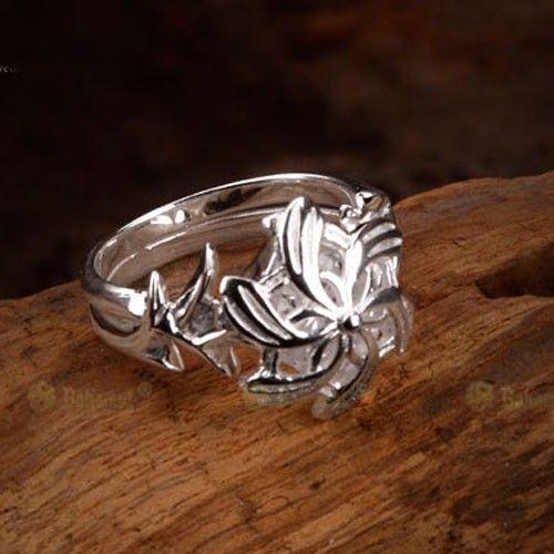 Anel do Poder Nenya Galadriel - O Senhor dos Anéis - Prata 925