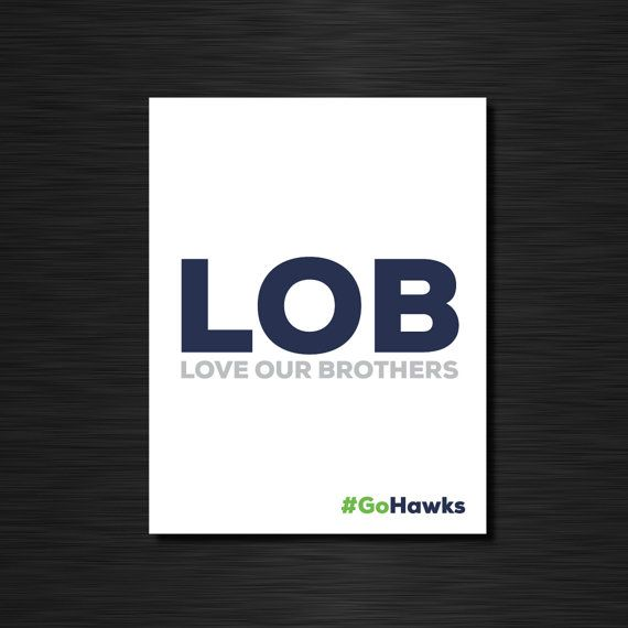 LOB  love our brothers // Seattle Seahwaks by CiaofornowDesigns