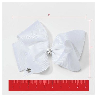 Girls' JoJo Siwa Center Rhinestone Bow Hair Clip - White