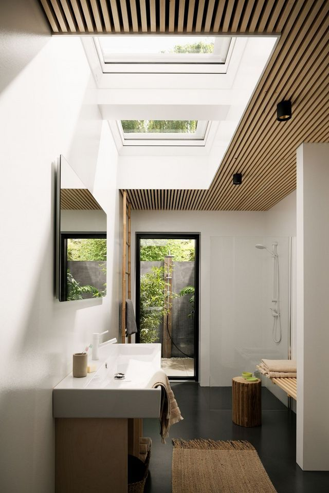 The 31 best Lichtband Deckenfenster images on Pinterest Windows - schlafzimmer bad hinter glas loft wohnung