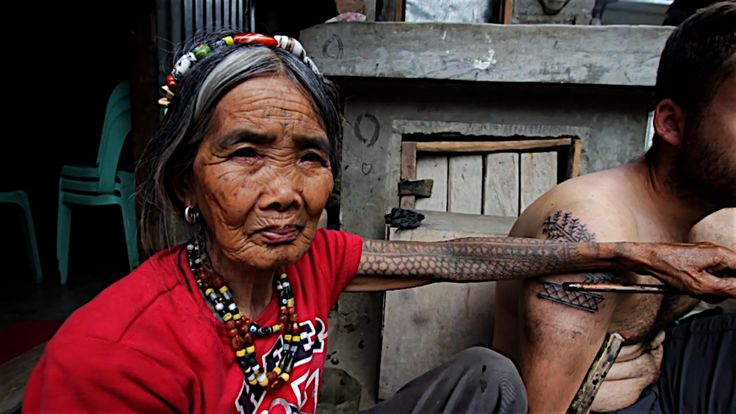 """Whang Od: The Kalinga Tattoo maker (Video)  """"Whang Od is 92 years old and up to very recently she was the last Kalinga tattoo maker. According to specialists, this practice is about a thousand years old and was used as a skin natural language transmitted from generation to generation.""""  Watch it at http://inkbutter.com/whang-od-the-kalinga-tattoo-maker-video  #tattoo #tattoos #ink #tattooer"""