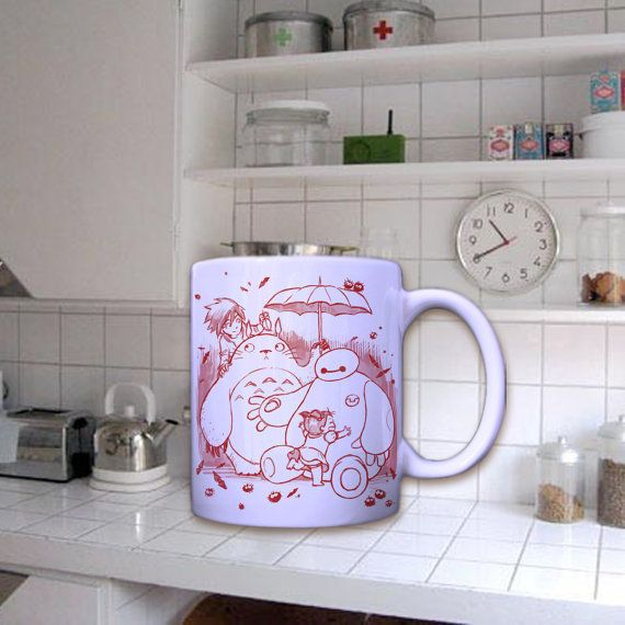Baymax and Totoro In Mug by dirimug on Etsy