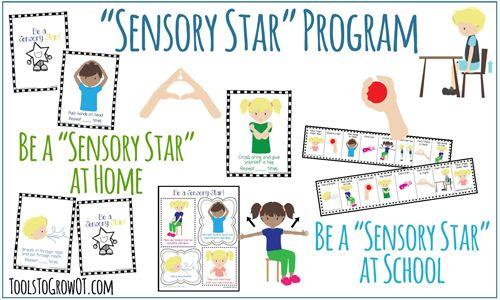 Sensory Star Program- Self-Regulation Sensory Diet Strategies for home and school settings. www.toolstogrowot.com
