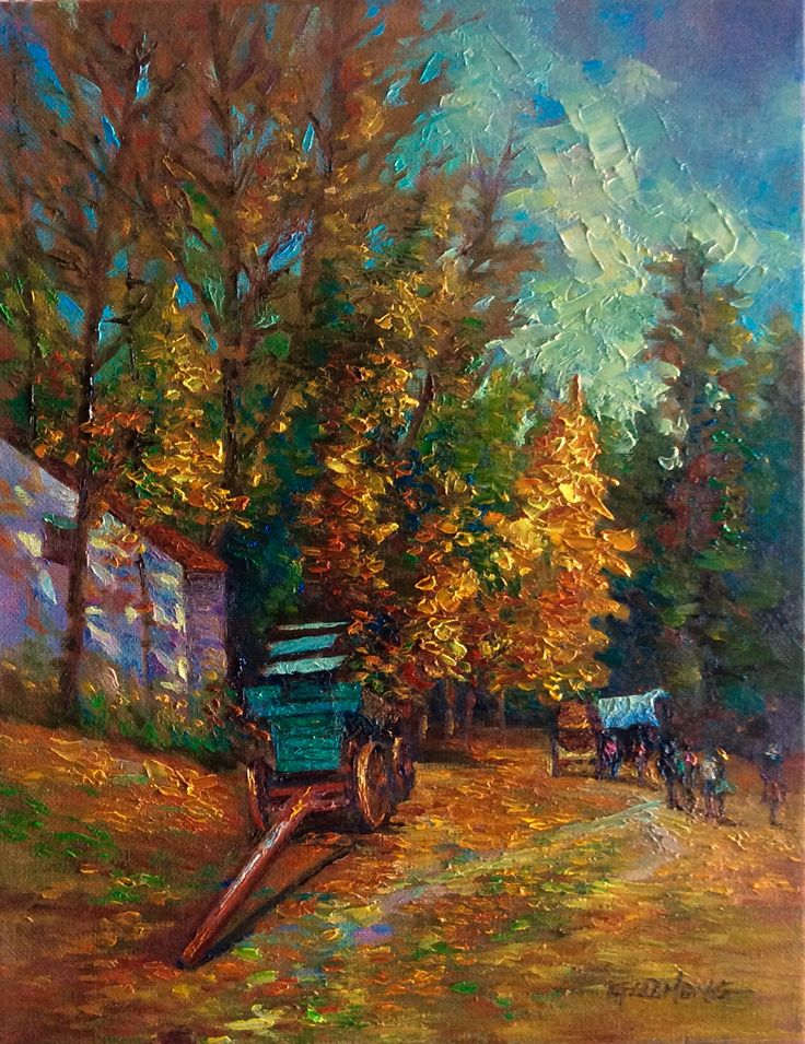 Autumn Oil Painting Images