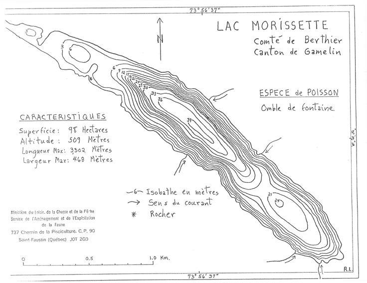 Le lac Morissette, comté de Berthier Lanaudière à la suite du lac Sarrazin