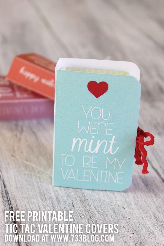 Tic Tac Valentine Free Printable