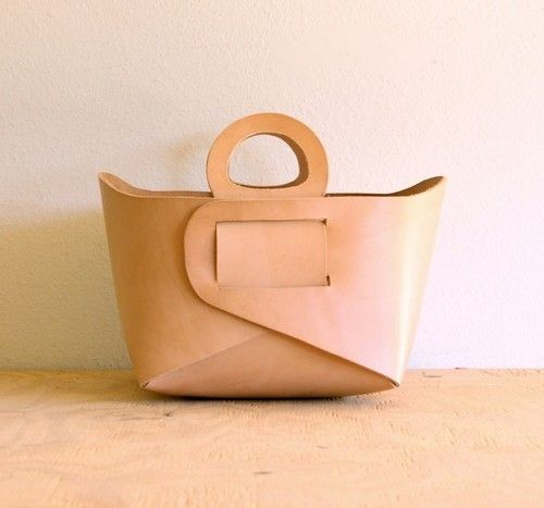 I love the simple design of this leather container