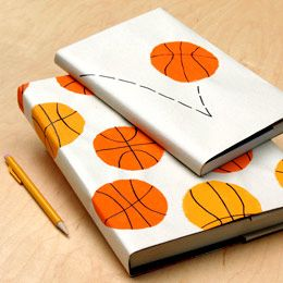 Wildcat Basketball book covers... might do these with soccer balls!