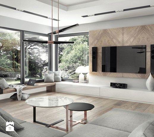 dom pod Krakowem 250m2 - Salon, styl nowoczesny - zdjęcie od MaNaZa