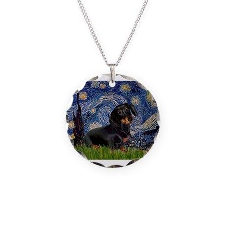 5.5x7.5Starry-Dachs16.png Necklace on CafePress.com