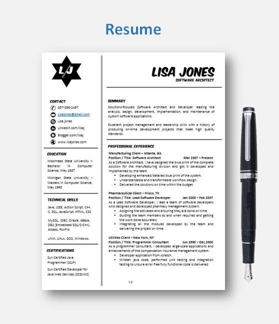 Best 25+ Chronological resume template ideas on Pinterest Resume - template for resume word
