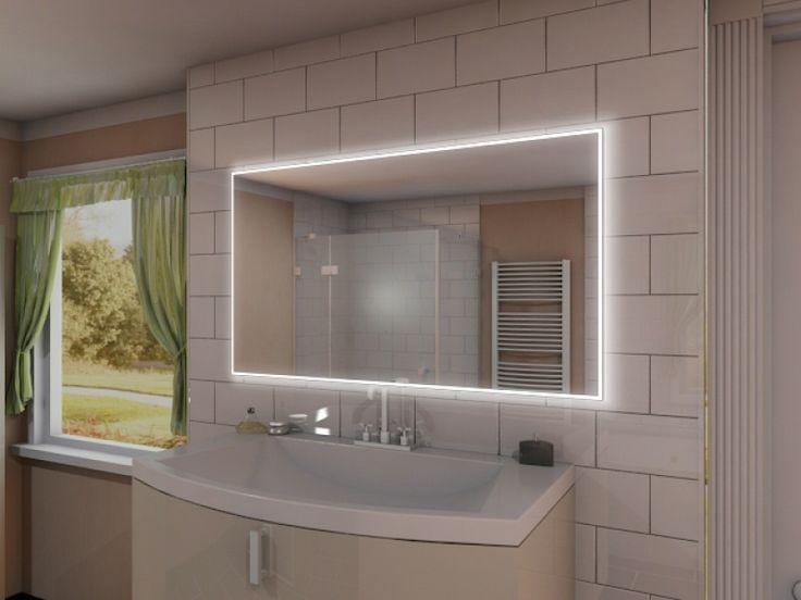 die besten 25 badspiegel mit led beleuchtung ideen auf pinterest badspiegel mit led. Black Bedroom Furniture Sets. Home Design Ideas