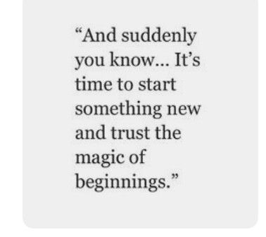Magic of beginnings.