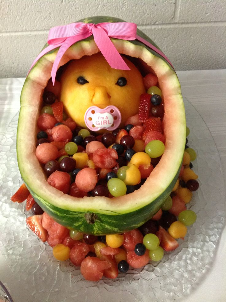 watermelon baby cradle fruit salad for lindsey 39 s shower fruit salad