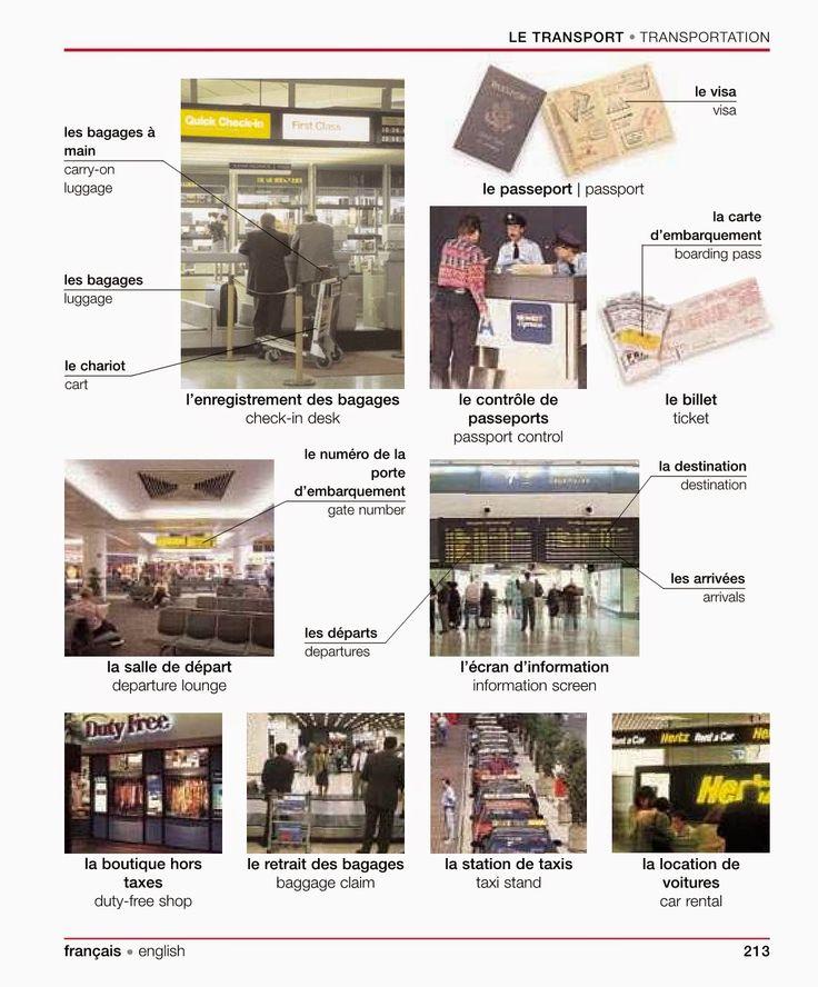 Na lotnisku - słownictwo 6 - Francuski przy kawie