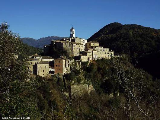 The fairytale village of Rocchette, in Sabina, Lazio, Italy