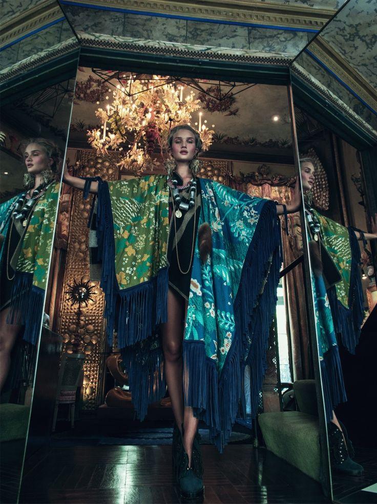Rosie Huntington-Whiteley in Vogue Korea Magazine November 2015 issue
