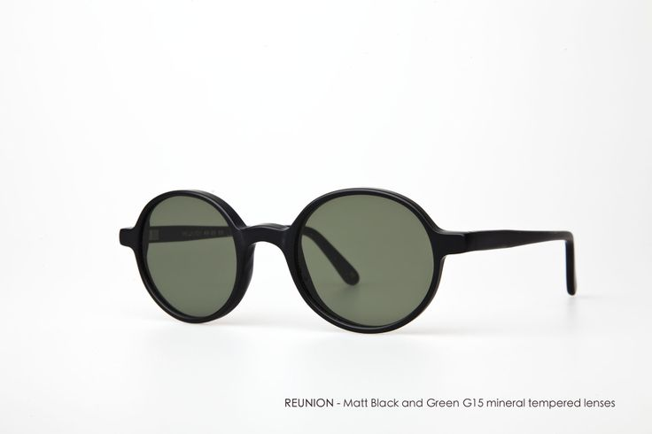 REUNION with Matt Black and Green G15 flat lenses