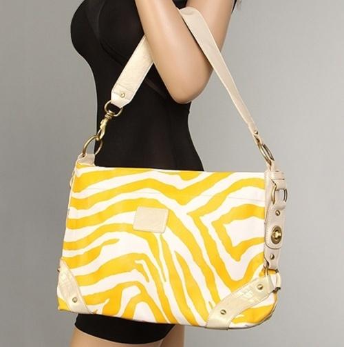 Yellow Animal Print Shoulder Bag.