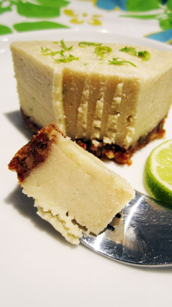 (almost raw) vegan key lime cheesecake - #raw #vegan recipe