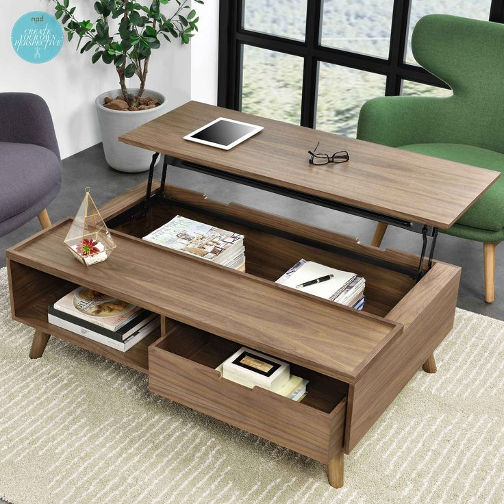 Practical Mid Century Styling With Modern Convenience The Pascal Coffee Table Has A Handy Lift Top So You Can Work On Your Lap Coffee Table Furniture Mid Century Coffee Table Modern Coffee Tables