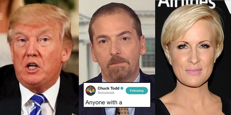 Trump Just Attacked Morning Joe's 'Mika.' Chuck Todd's Response Is Perfect -