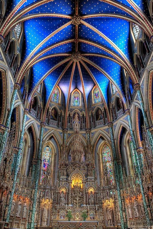 The Notre-Dame Cathedral Basilica in Ottawa, Canada......