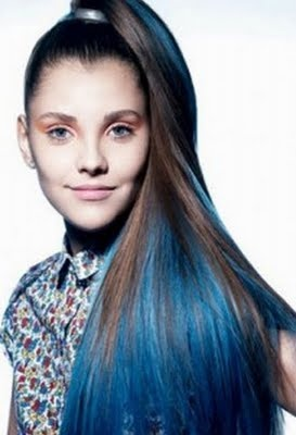 blue hairHair Colors, Blue Hair Dyes, Hair Style, Colors Blue, Ponytail Hairstyles, Beautiful Blog, Ponies Tail, Blue Hairstyles, Girls Hair