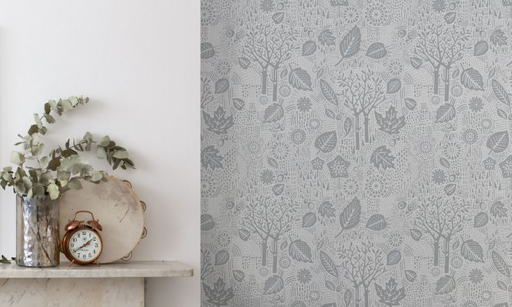 Bold & Noble Soft Grey Autumn Wallpaper