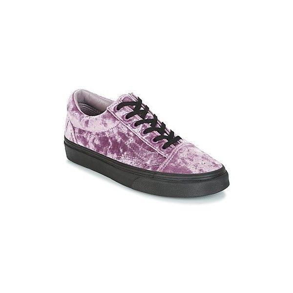 Vans OLD SKOOL Shoes (Trainers) (4.940 RUB) ❤ liked on Polyvore featuring shoes, sneakers, pink, trainers, women, vans footwear, textile shoes, pink shoes, vans trainers and vans sneakers