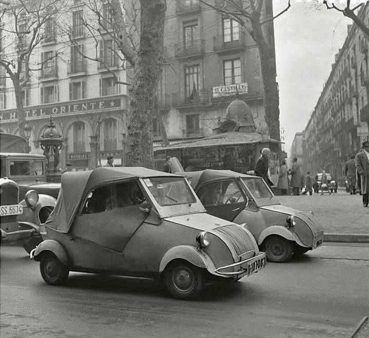 The Ramblas 1950s Barcelona, Catalonia.