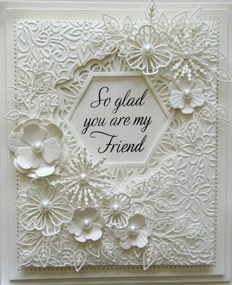 Hello there my crafty friends! It has been absolutely ages since I did an all white card! I just felt the need to sit down and make o...
