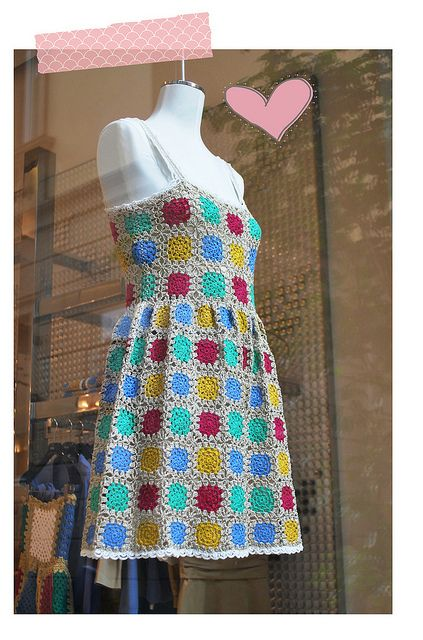Granny Square Dress by Glinda LBBN, via Flickr