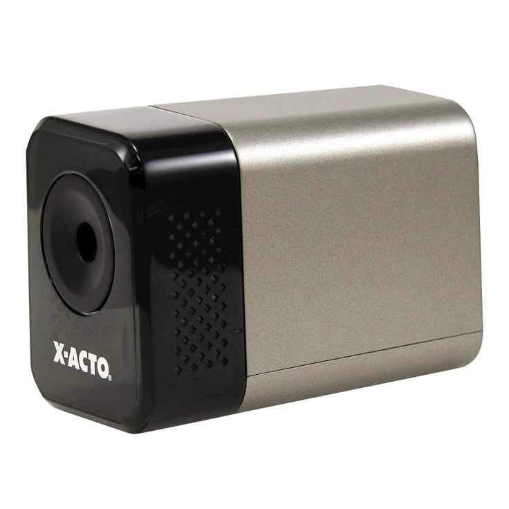 X-Acto 1800 Series Desktop Electric Pencil Sharpener, Putty, Silver/Black