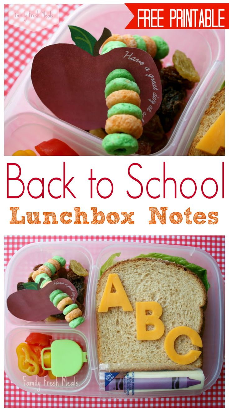 Beat the back to school lunch blues with  these adorable notes! via FamilyFreshMeals.com