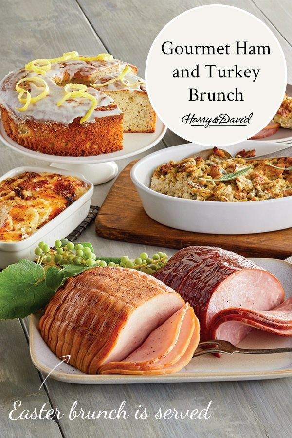 Gourmet Ham And Turkey Brunch In 2020 Dinner Delivery Scalloped Potatoes Cheesy Food To Go