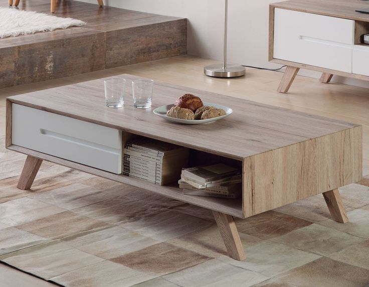 17 best ideas about table basse bois blanc on pinterest table basse blanc - Table bois scandinave ...