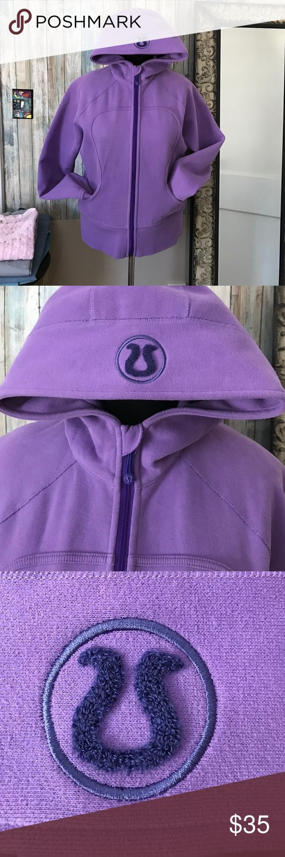 LuLu lemon purple zip up heavy sweatshirt Warm!!  LuLu lemon zip up sweatshirt jacket with pockets. Used but great shape! lululemon Other