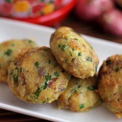 potato patties, Asian-style.
