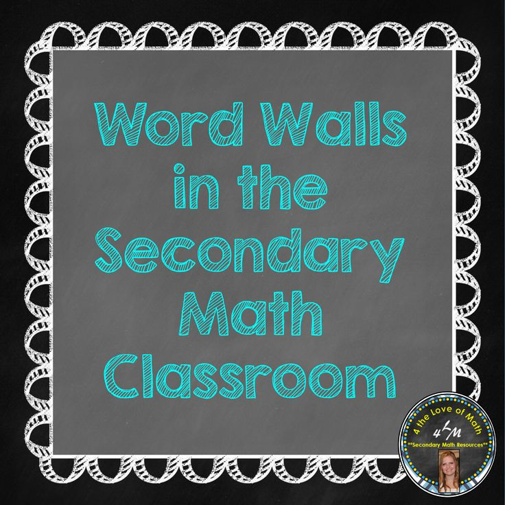 Blog post with tips on using a word wall in middle or high school math
