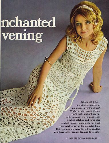 Mod Crochet Dress Pattern (I will make this some day.)